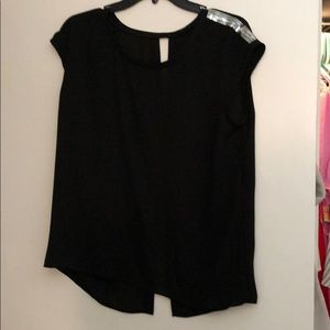 Express—Black loose fit shirt with sequins